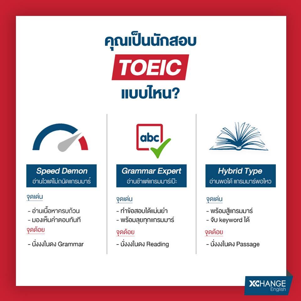 คุณเป็นนักสอบ TOEIC แบบไหน? - XChange English